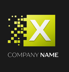 Letter x logo symbol in the colorful square vector