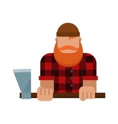 Lumberjack woodman woodcutter character vector