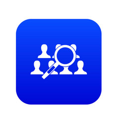 magnifying glass searching icon digital blue vector image