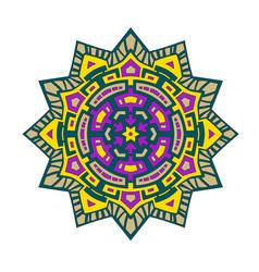mandala color star vector image