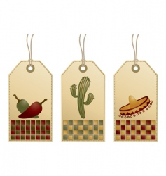 Mexican tags vector image