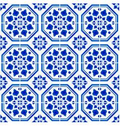 Mexican talavera ceramic tile pattern italain vector