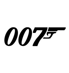 Movie character james bond a famous spy vector