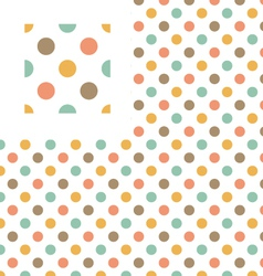 Multicolor polka dots geometric pattern swatch vector image