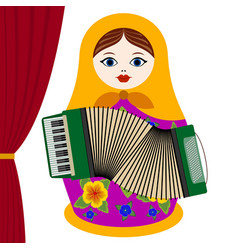 Musician with accordion vector