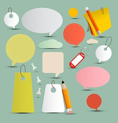 Objects and Labels Set vector