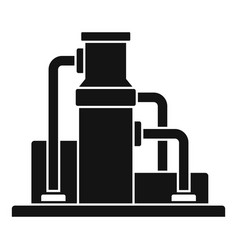 Oil refinery icon simple style vector
