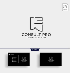 Paper line consulting creative logo template vector