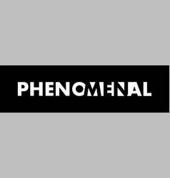 Phenomenal - negative space vector