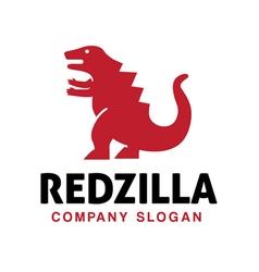 Red zilla Design vector image