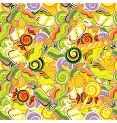 Seamless pattern background with lollipops vector