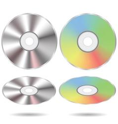 Set cd discs vector