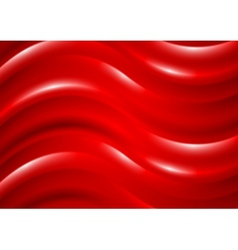 Shiny waves abstract background vector image