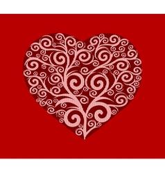 Stylish heart valentines vector