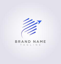 Symbol design circle plane logo icon vector