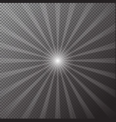 transparent bright sun shines on a checkered backg vector image