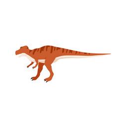 Tyrannosaurus rex or t-rex dino character extinct vector