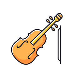 Violin rgb color icon vector