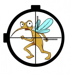 mosquito on target vector image vector image