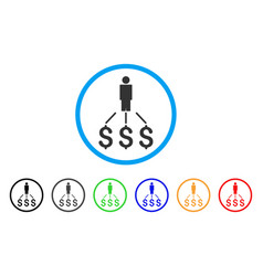 person expenses rounded icon vector image