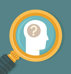 psychology concept in flat style vector image vector image