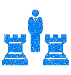 Strategy Chess Towers Grainy Texture Icon vector image