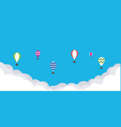 baloons in the sky vector image