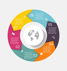 circle arrows for infographicCan be used for info vector image