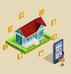remote house control concept vector image