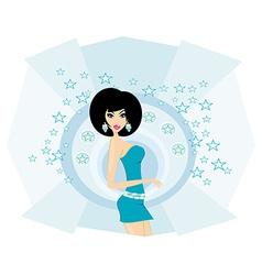 sexy disco girl card vector image