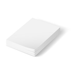 stack of blank paper on white background vector image vector image