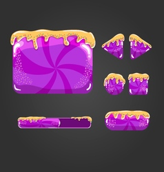 Sweet cartoon user interface games-1 vector image