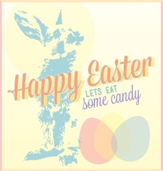 Vintage Happy Easter Card or Wallpaper vector image vector image
