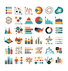 business data graph and charts marketing vector image vector image