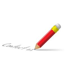 contact us pencil vector image vector image