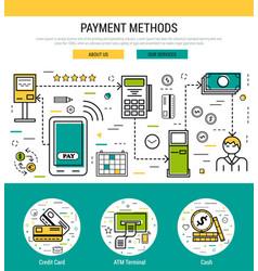 header template - payment methods vector image