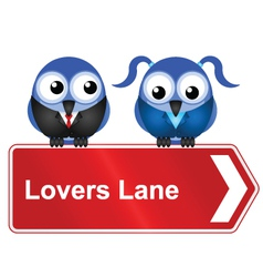 LOVERS LANE vector image