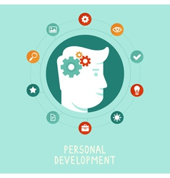 personal development concept in flat style vector image vector image