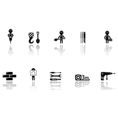 set of construction icons with tools vector image