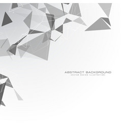 White background with triangle shapes vector