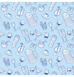 drinks seamless background vector image