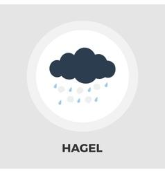 Hagel flat icon vector image
