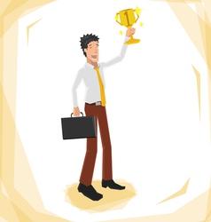 Man winner 380 vector image vector image