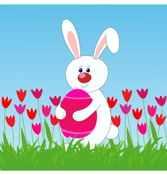 rabbit easter egg vector image