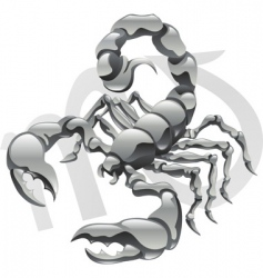 Scorpio star sign vector image vector image