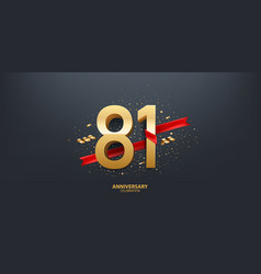 81st year anniversary background vector image