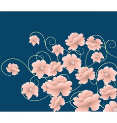 Abstract composition with flowers vector