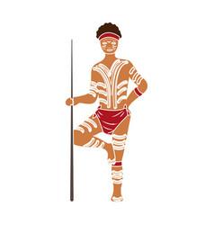 Australian aborigine icon in colour style isolated vector