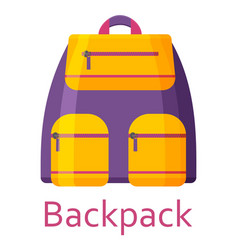 Backpack isolated on the white background vector