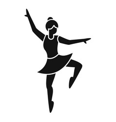 Ballerina stage icon simple ballet dancer vector